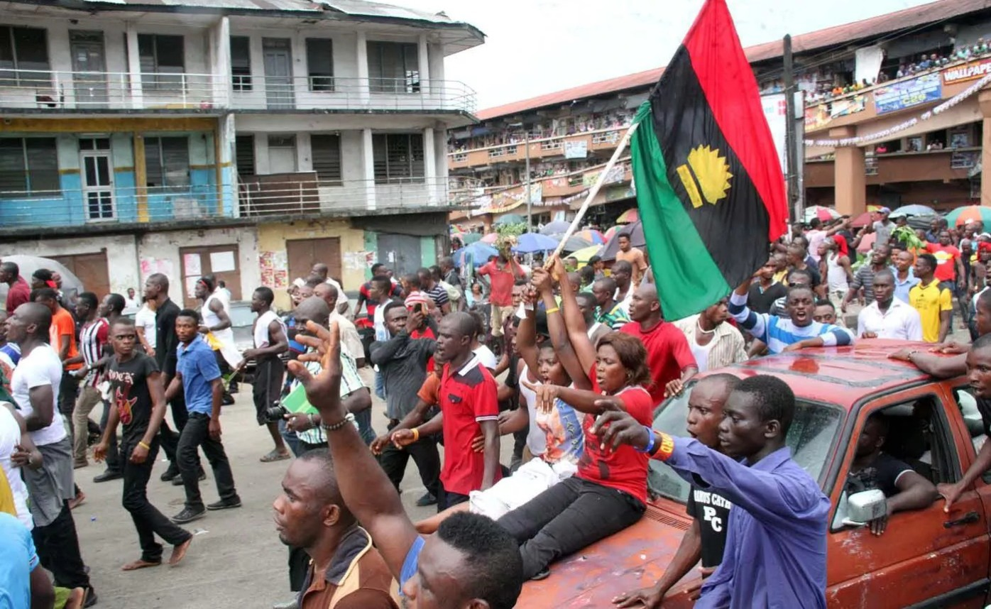 pro biafra protesters.NS  e1455869671554 - Biafra Agitation: 'Forget about it'