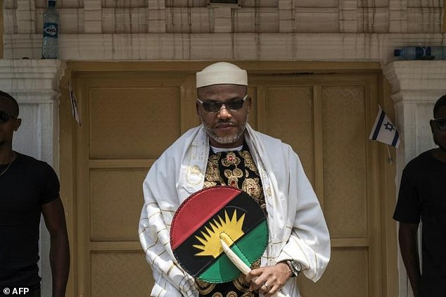 Nnamdi Kanu, leader of the pro-independence Indigenous People of Biafra movement