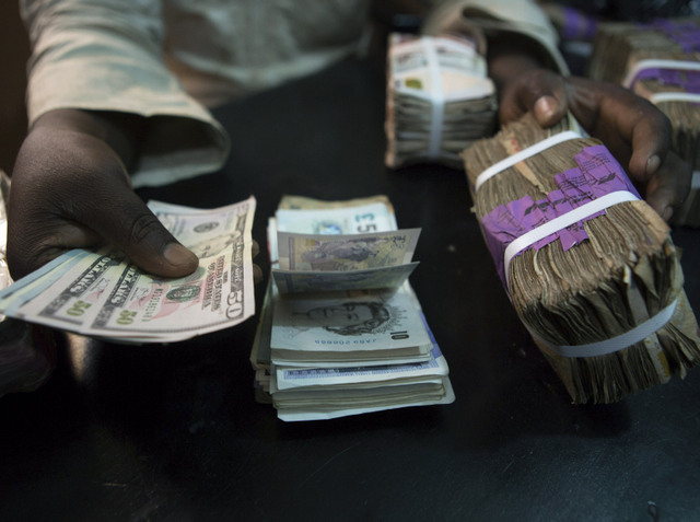 U.S. Dollar held with Nigerian Naira
