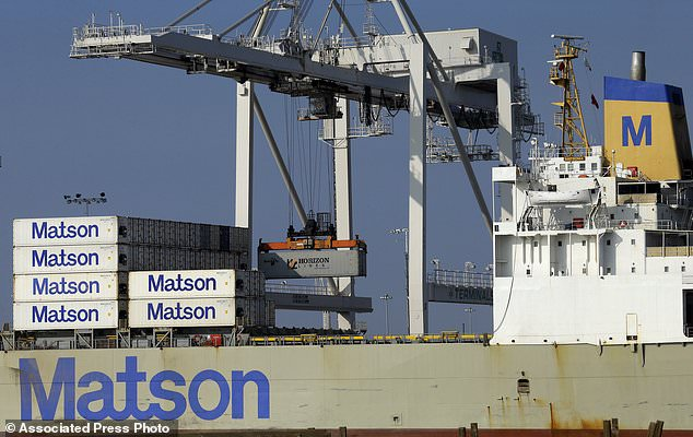 container ship - US trade deficit hits the largest since 2012, $50.5 billion