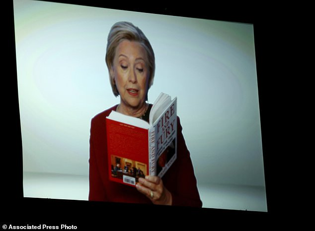 hilary clinton - Hillary Clinton surprises with Grammy 'Fire and Fury' spoof