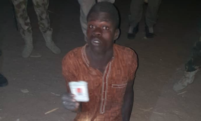Babagana Abubakar The Wanted Boko Haram Terrorist Nabbed By Troops With Uniforms Of Security Operatives