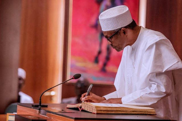 President Buhari on Jan. 25 2019 Swore In Justice Ibrahim Tanko Mohammed As Acting Chief Justice Of Nigeria
