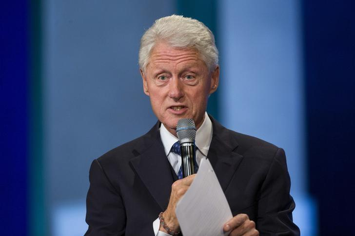 Former U.s. President Bill Clinton Speaks During The Clinton Global Initiative's Annual Meeting In New York