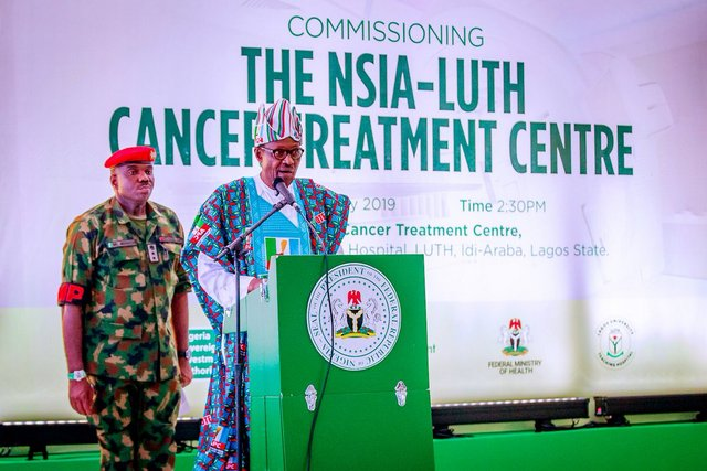Buhari Today In Lagos Commissioned The Nsia Luth Cancer Treatment Centre