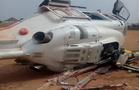 Vice President Yemi Osibanjo Crashed Chopper In Kabba, Kogi State